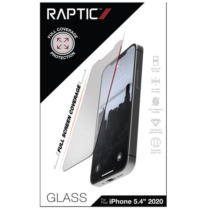 RAPTIC Glass Full Coverage  保護強化ガラス Clear iPhone 12 mini_0