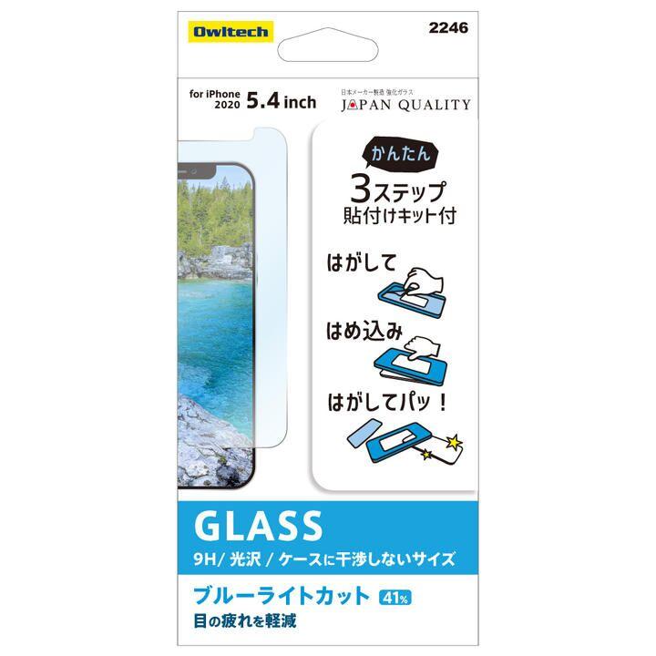 貼りミスゼロ保護ガラス 光沢・ブルーライトカット iPhone 12 mini_0
