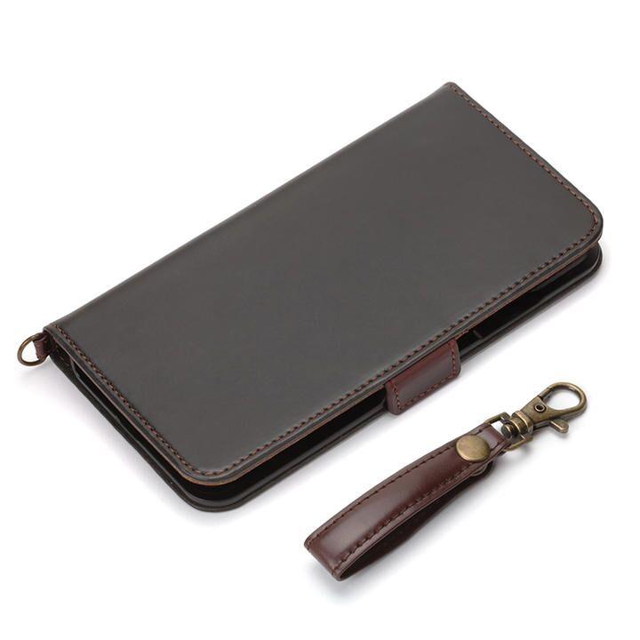 フリップカバー PUレザーダメージ加工 ブラック iPhone 12 Pro Max_0