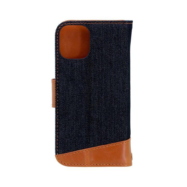 手帳型ケース インディゴブルーxキャメル iPhone 12 mini_0