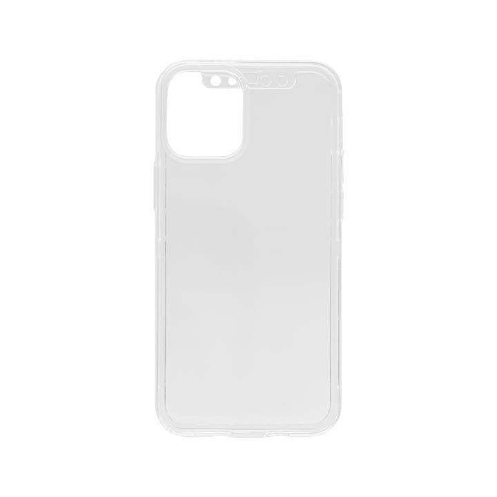 360°フルカバーケース マットガラス付 クリア iPhone 12 mini_0