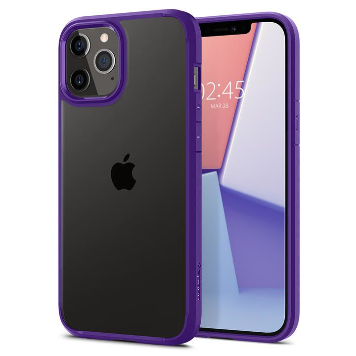 Spigen Crystal Hybrid Hydrangea Purple iPhone 12 Pro Max_0