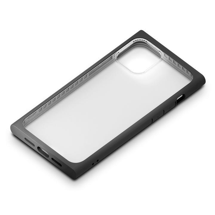 ガラスタフケース スクエアタイプ ブラック iPhone 12 Pro Max_0
