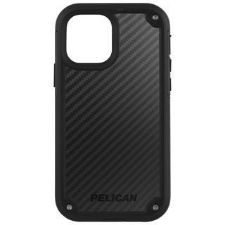 iPhone 12 / iPhone 12 Pro (6.1インチ) ケース Pelican 抗菌 6.4m落下耐衝撃ケース Shield Black Kevlar ホルスタースタンド付属 iPhone 12/iPhone 12 Pro