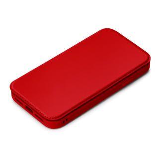 iPhone 12 / iPhone 12 Pro (6.1インチ) ケース ガラスフリップケース レッド iPhone 12/iPhone 12 Pro