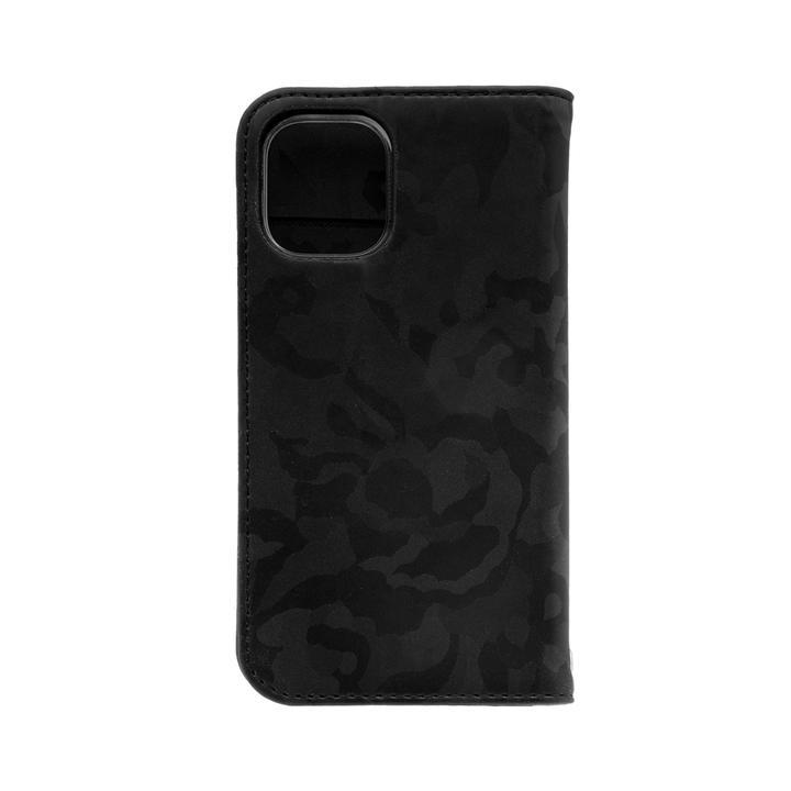 手帳型ケース 迷彩柄 ブラック iPhone 12 mini_0