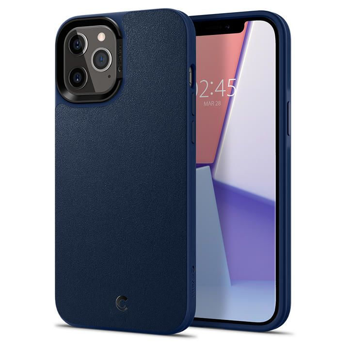 Spigen Leather Brick Navy iPhone 12 Pro Max_0