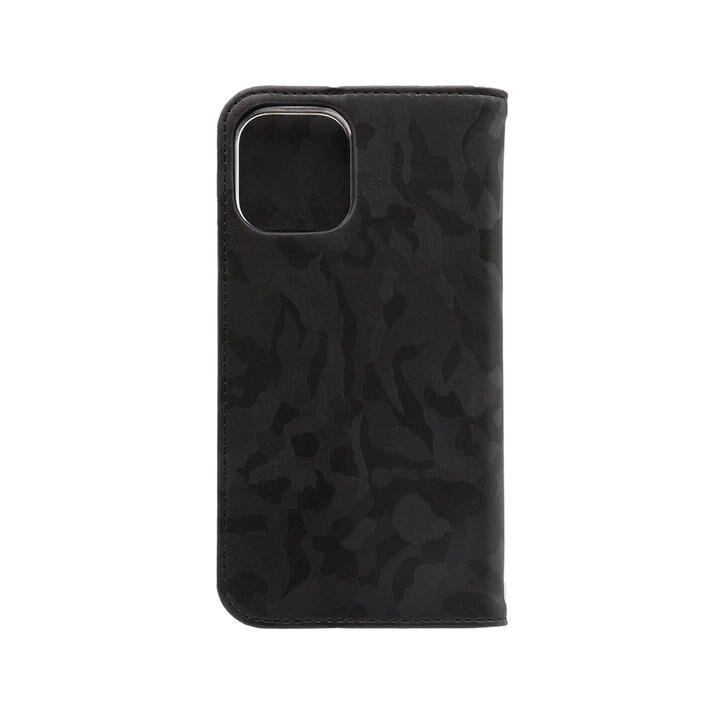 手帳型ケース 迷彩柄 ブラック iPhone 12/iPhone 12 Pro_0