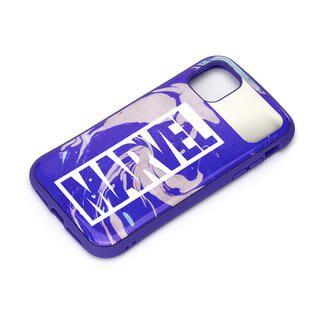 iPhone 12 Pro Max (6.7インチ) ケース ハイブリッドタフケース ロゴ/パープル iPhone 12 Pro Max