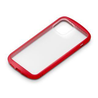 iPhone 12 / iPhone 12 Pro (6.1インチ) ケース ガラスタフケース ラウンドタイプ レッド iPhone 12/iPhone 12 Pro