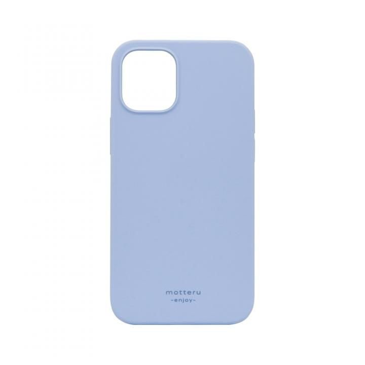 SOFUMO 背面型シリコンケース ブルー iPhone 12 mini_0
