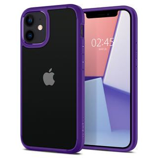iPhone 12 mini (5.4インチ) ケース Spigen Crystal Hybrid Hydrangea Purple iPhone 12 mini