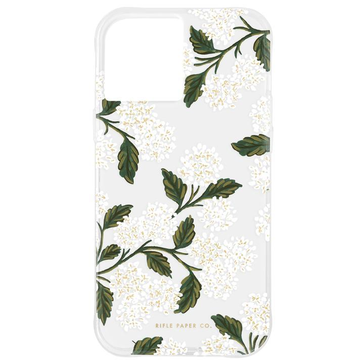 Rifle Paper Co. 抗菌・3.0m落下耐衝撃ケース Clear Hydrangea White iPhone 12 Pro Max_0