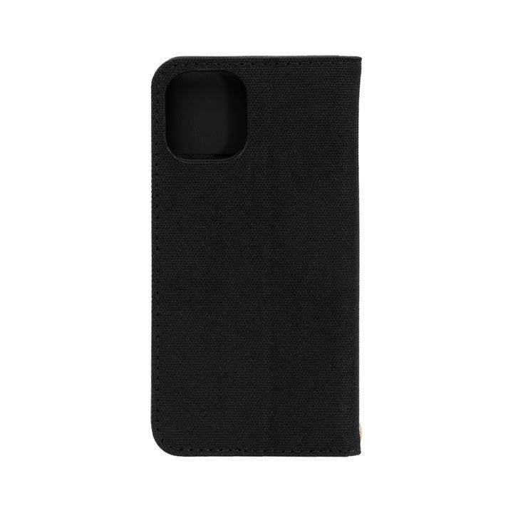 手帳型ケース ブラックxブラック iPhone 12 mini_0