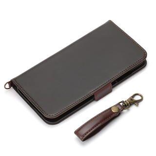 iPhone 12 Pro Max (6.7インチ) ケース フリップカバー PUレザーダメージ加工 ブラック iPhone 12 Pro Max