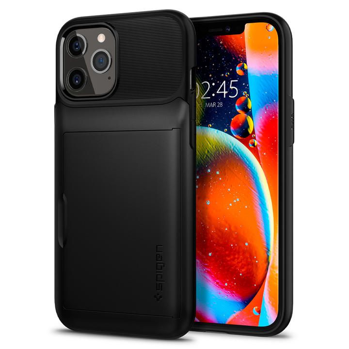 Spigen Slim Armor Wallet Black iPhone 12/iPhone 12 Pro_0