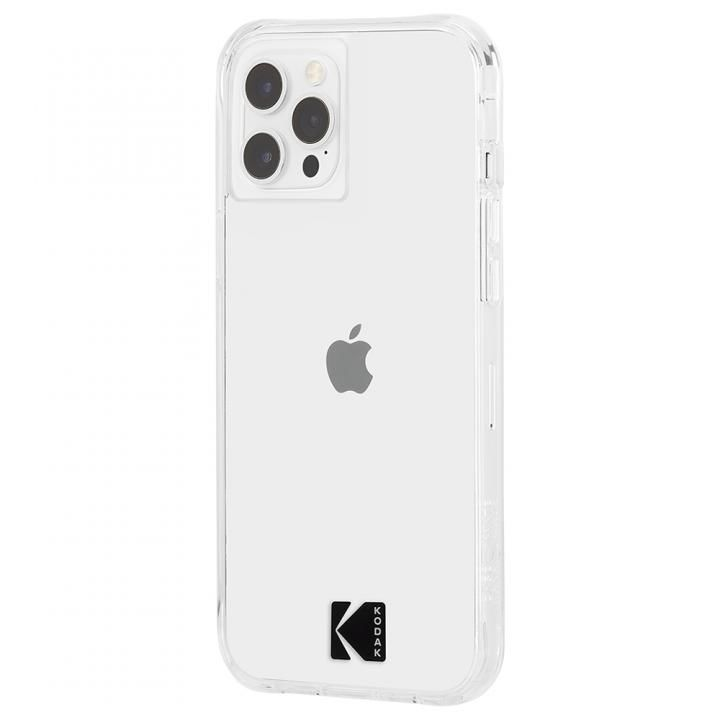 KODAK 3.0m落下耐衝撃ケース Clear Case with Logo iPhone 12 Pro Max_0