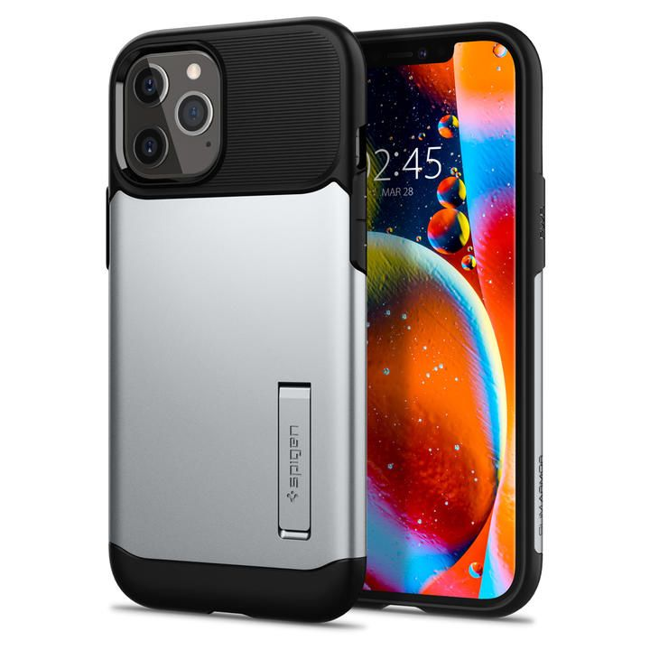 Spigen Slim Armor Satin Silver iPhone 12 Pro Max_0