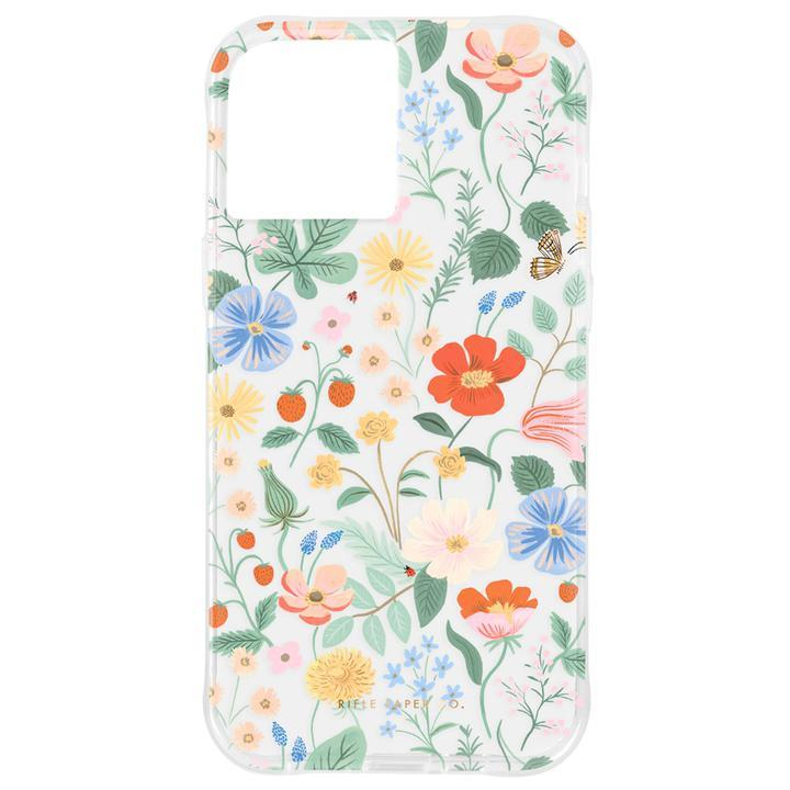 Rifle Paper Co. 抗菌・3.0m落下耐衝撃ケース Clear Strawberry Fields iPhone 12 mini_0