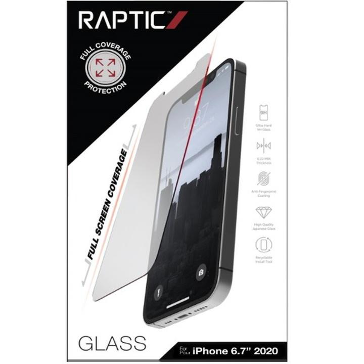 RAPTIC Glass Full Coverage  保護強化ガラス Clear iPhone 12 Pro Max【11月中旬】_0