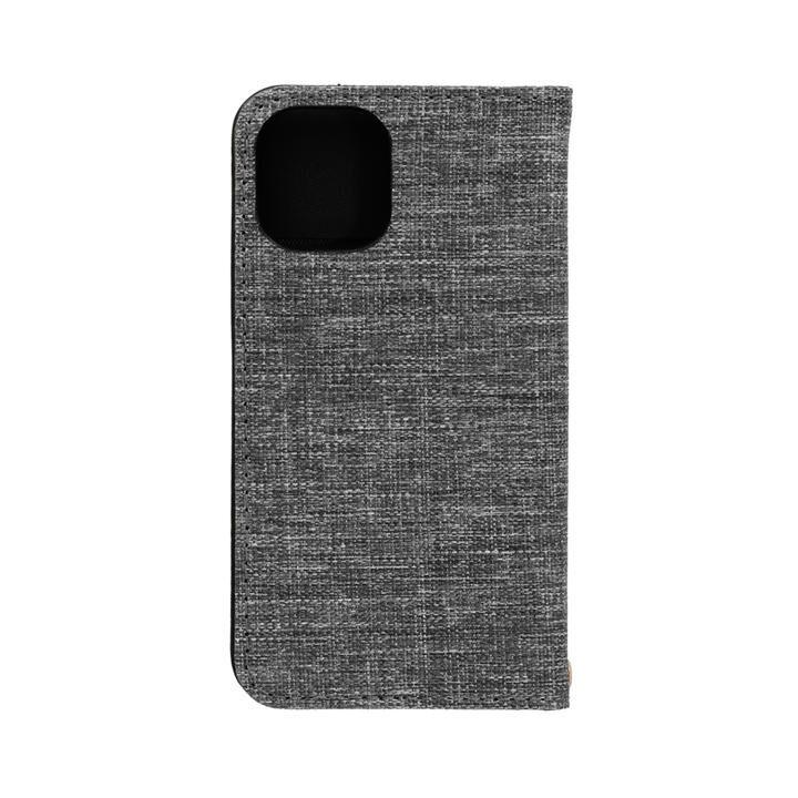 手帳型ケース グレーxブラック iPhone 12 mini_0