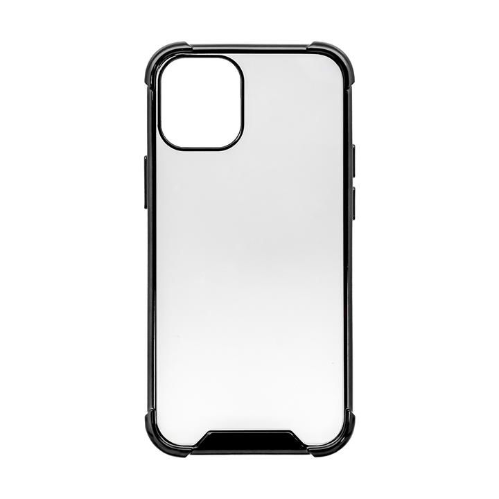ハイブリッド耐衝撃ケース ブラック iPhone 12 mini_0