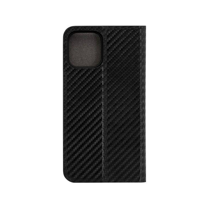 手帳型ケース カーボン柄 ブラック iPhone 12/iPhone 12 Pro【10月下旬】_0