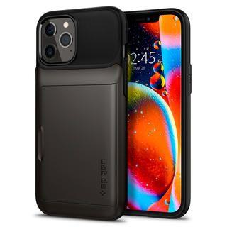 iPhone 12 Pro Max (6.7インチ) ケース Spigen Slim Armor Wallet Gunmetal iPhone 12 Pro Max