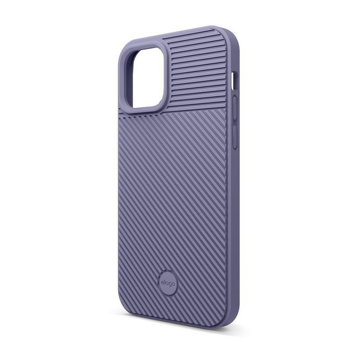 elago CUSHION CASE  iPhoneケース Lavender Grey iPhone 12 mini_0