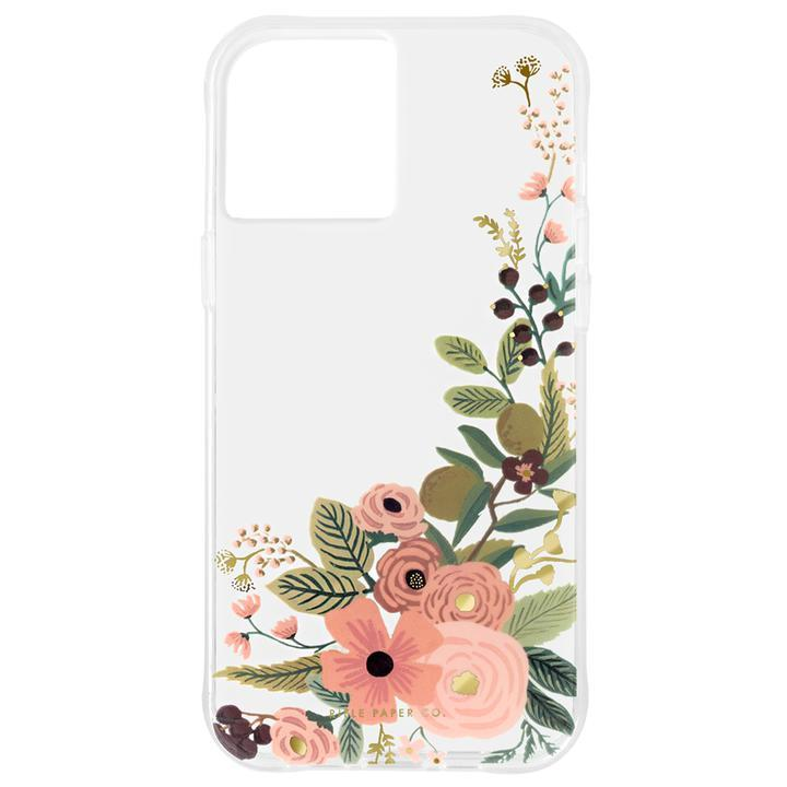 Rifle Paper Co. 抗菌・3.0m落下耐衝撃ケース Clear Garden Party Rose iPhone 12/iPhone 12 Pro_0