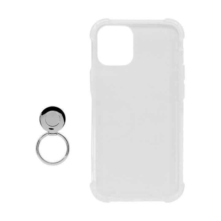 リング付ハイブリッド耐衝撃ケース クリア iPhone 12 mini_0