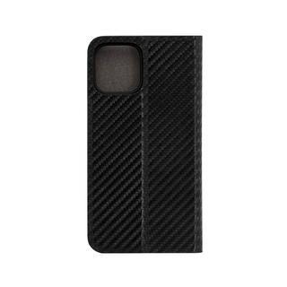 iPhone 12 / iPhone 12 Pro (6.1インチ) ケース 手帳型ケース カーボン柄 ブラック iPhone 12/iPhone 12 Pro