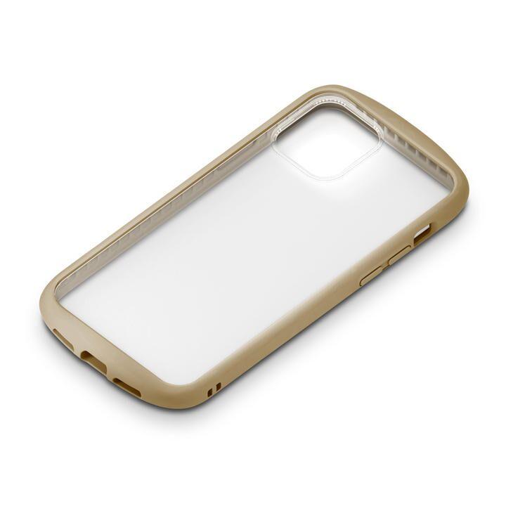 ガラスタフケース ラウンドタイプ ベージュ iPhone 12 Pro Max_0