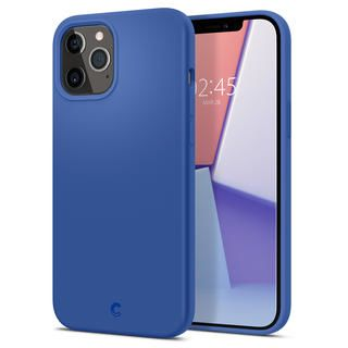 iPhone 12 Pro Max (6.7インチ) ケース Spigen Silicone Linen Blue iPhone 12 Pro Max