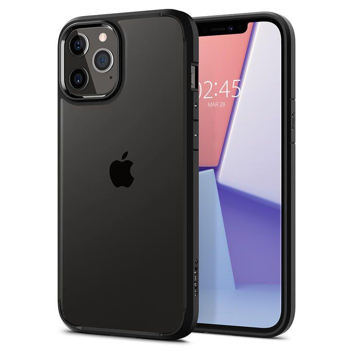 Spigen Crystal Hybrid Matte Black iPhone 12 Pro Max_0