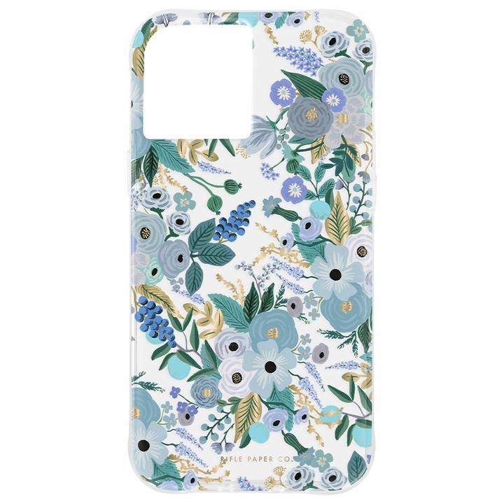 Rifle Paper Co. 抗菌・3.0m落下耐衝撃ケース Garden Party Blue iPhone 12/iPhone 12 Pro_0