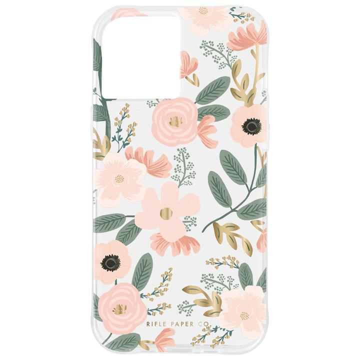 Rifle Paper Co. 抗菌・3.0m落下耐衝撃ケース Wild Flowers iPhone 12 mini_0