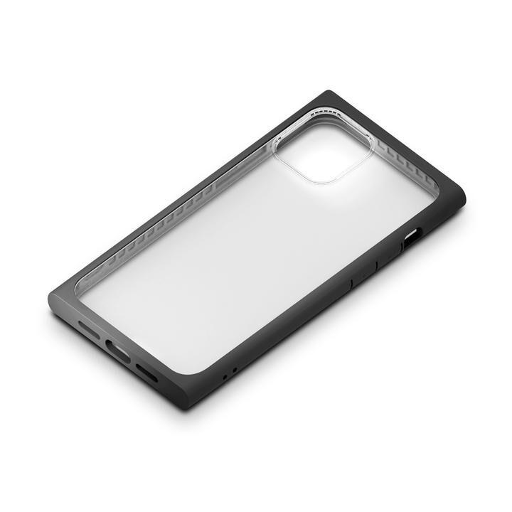 ガラスタフケース スクエアタイプ ブラック iPhone 12 mini_0