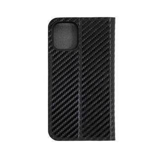 iPhone 12 mini (5.4インチ) ケース 手帳型ケース カーボン柄 ブラック iPhone 12 mini