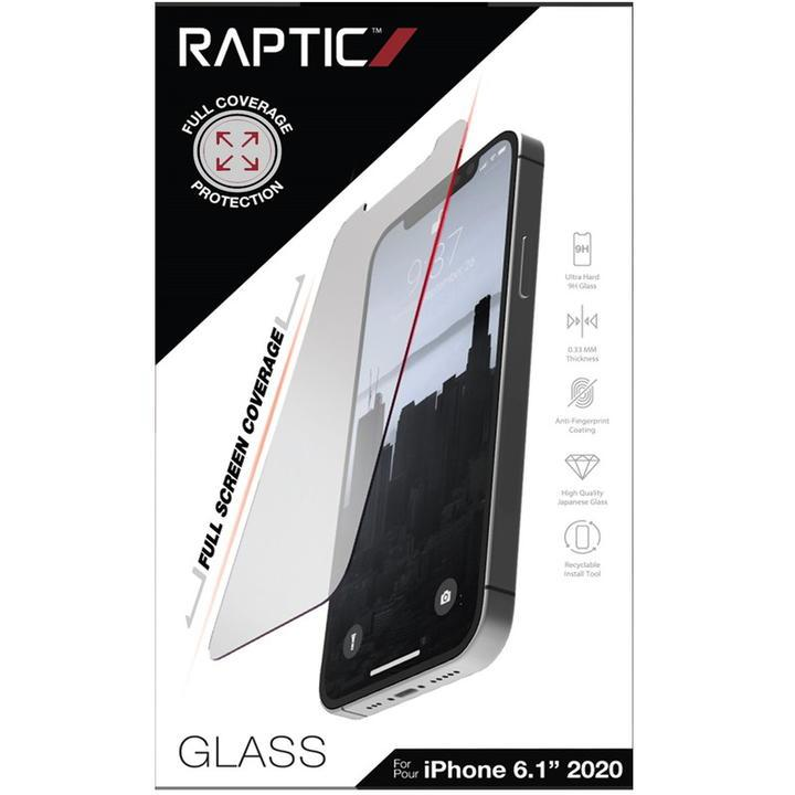 RAPTIC Glass Full Coverage  保護強化ガラス Clear iPhone 12/iPhone 12 Pro_0