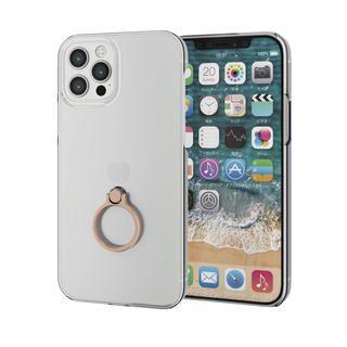 iPhone 12 / iPhone 12 Pro (6.1インチ) ケース iPhoneケース シェルケース ポリカーボネート 薄型 リング付シェルケース ゴールド iPhone 12/iPhone 12 Pro