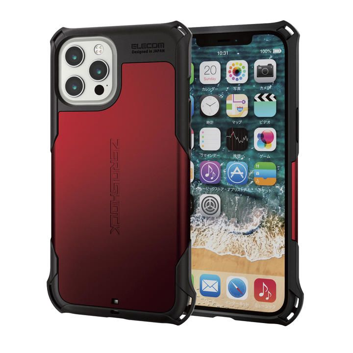 iPhoneケース ゼロショック ZEROSHOCK 耐衝撃 TPU レッド iPhone 12 Pro Max_0