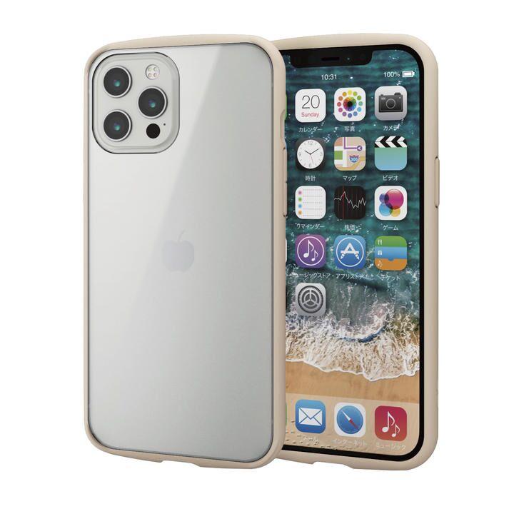 iPhoneケース フレームカラー 耐衝撃 TPU 背面 アイボリー iPhone 12 Pro Max_0
