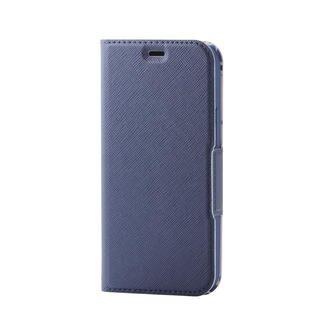 iPhone 12 mini (5.4インチ) ケース iPhoneケース 手帳 フラップ レザー マグネット ウルトラスリムタイプ ネイビー iPhone 12 mini
