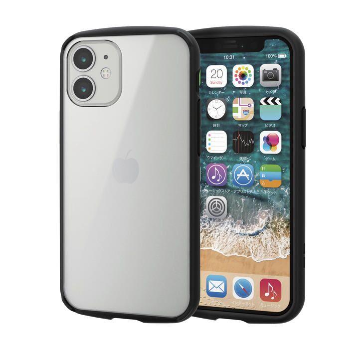 iPhoneケース フレームカラー 耐衝撃 TPU 背面 ブラック iPhone 12 mini_0