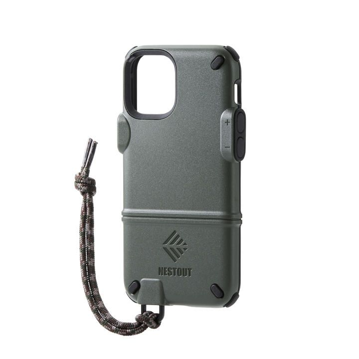iPhoneケース NESTOUT トレッキング 登山 アウトドア オリーブ iPhone 12 mini_0