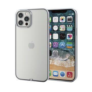 iPhone 12 / iPhone 12 Pro (6.1インチ) ケース iPhoneケース サイドカラー 耐衝撃 TPU 背面 シルバー iPhone 12/iPhone 12 Pro