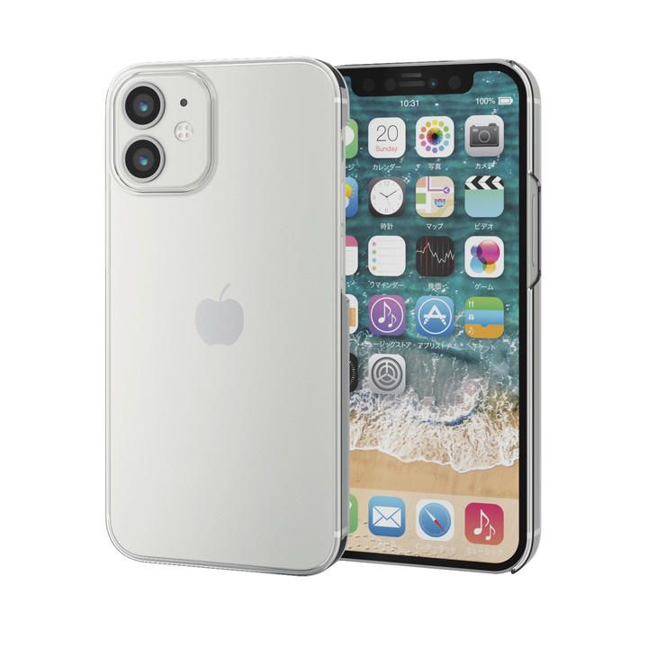 iPhoneケース シェルケース ポリカーボネート 薄型 クリア iPhone 12 mini_0