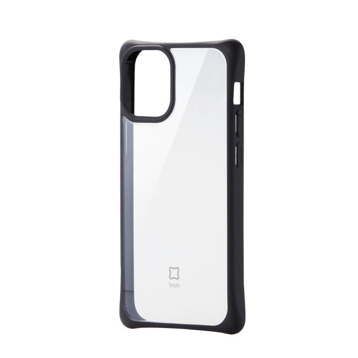 iPhoneケース 耐衝撃 スリム TPU 持ちやすい クリアブラック iPhone 12 mini_0