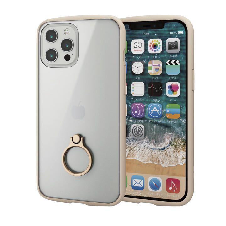 iPhoneケース フレームカラー リング 耐衝撃 TPU アイボリー iPhone 12 Pro Max_0